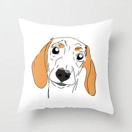 Siobhan dog Throw Pillow
