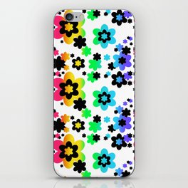 Rainbow Floral Abstract Flower iPhone Skin