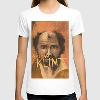 klimt T-shirts featuring 50 Artists: Gustav Klimt by Chad Beroth