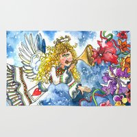 angel Area & Throw Rugs featuring Angel by Shelley Ylst Art