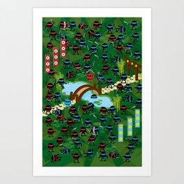 Ninja War Art Print
