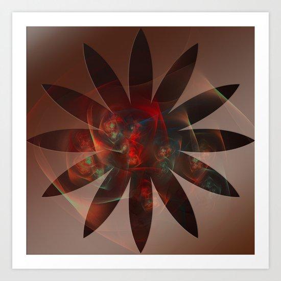 Flowers in the Flower Art Print