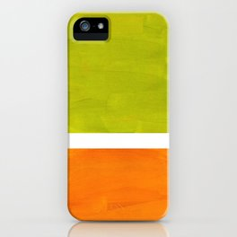 Retro Lime Green Minimalist Abstract Color Block Rothko Midcentury Modern Art iPhone Case