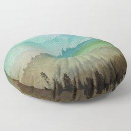 Watercolor Hills Floor Pillow