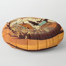 Fall Folklore Floor Pillow
