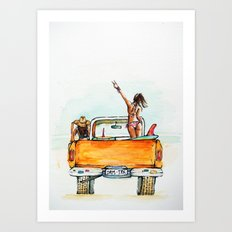 Dream Surf Truck Art Print