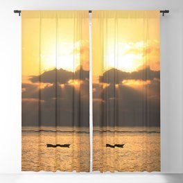 Tropical sunset Blackout Curtain