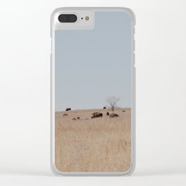Bison on the Tallgrass Clear iPhone Case