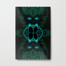 Dark Forest Lotus Fractal Art Print Metal Print