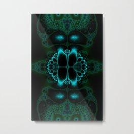 Dark Forest Lotus Fractal Art Print Metal Print