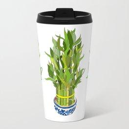 Lucky Bamboo in Porcelain Bowl Travel Mug