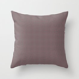 Pale Millennial Pink Pastel and Black Houndstooth Check Throw Pillow