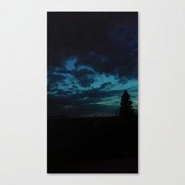 Tumultuous sky Canvas Print