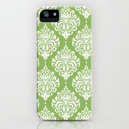 Green Damask iPhone Case