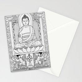 Buddha Black & White Stationery Cards