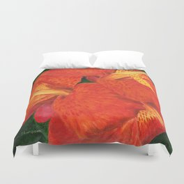 Cana Lily by Teresa Thompson Duvet Cover