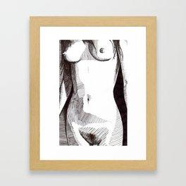Postcard Porn Framed Art Print
