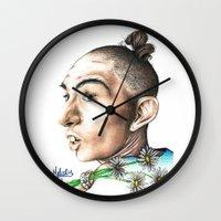ahs Wall Clocks featuring Pepper -AHS by MELCHOMM