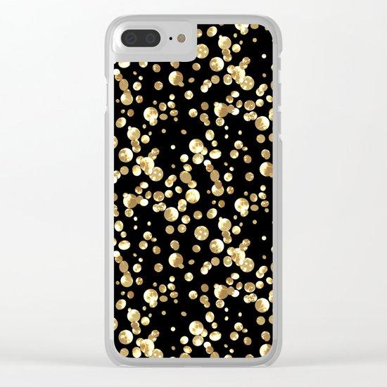 Golden confetti. Brilliant . Clear iPhone Case