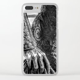 Blood, flowers and guitars Clear iPhone Case