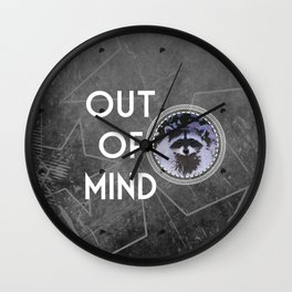 Out of mind Wall Clock