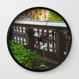 Highline Blooms Wall Clock