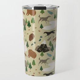 Wild White Woods Travel Mug