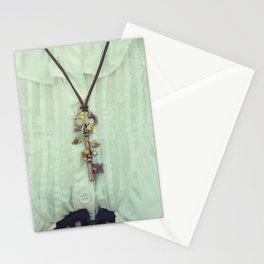 Copper Key Pendant in a vintage way... Stationery Cards