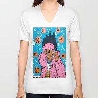 vegeta V-neck T-shirts featuring VEGETA  by TheArtGoon
