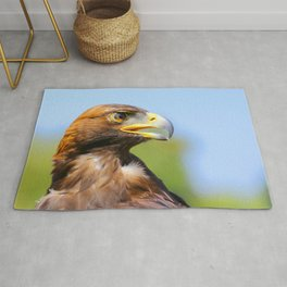Profile of a Young Golden Eagle Rug