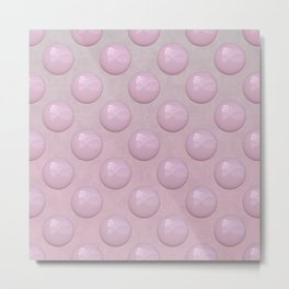 Feminine Pastel Pink Pearl Pattern Metal Print