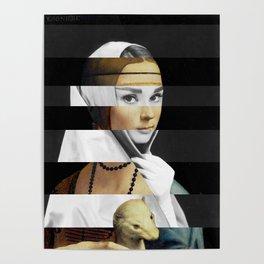 Leonardo da Vinci's Lady with a Ermine & Audrey Hepburn Poster