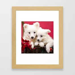 Puppies from the North Pole Framed Art Print
