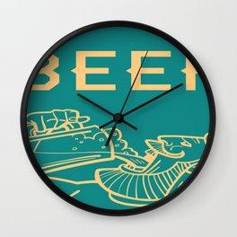 Beer Drinking Crew Wall Clock