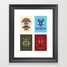AVATAR NATIONS SERIES FULL SET Framed Art Print