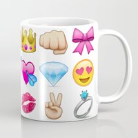 emoji Mugs featuring Girly Emoji Compilation  by Fanis