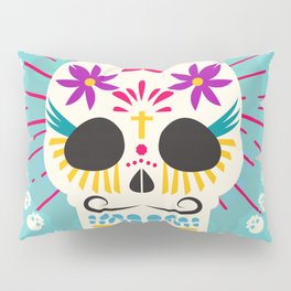 Dios De Los Muertos Day of the Dead Sugar Skull Fiesta Pillow Sham