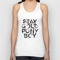 stay gold Tank Tops featuring Stay Gold by Lucas Young