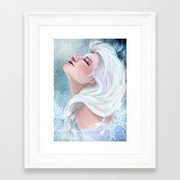 elsa Framed Art Prints featuring Elsa by Ines92