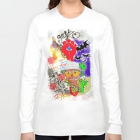 fear and loathing Long Sleeve T-shirts featuring GONZO Fear and Loathing Print by Just Bailey Designs .com