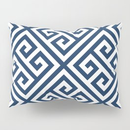 Greek Key Navy Pillow Sham