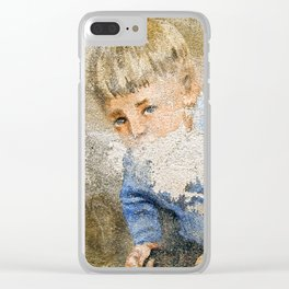 Murales in Flussio on the Isle of Sardinia Clear iPhone Case
