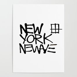 Basquiat New York New Wave Poster