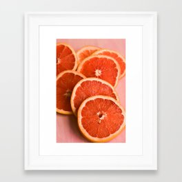 Grapefruit on Pink Framed Art Print