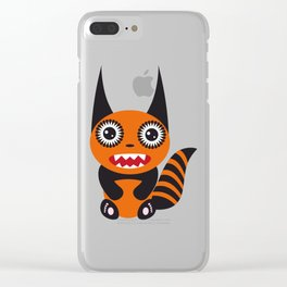 Funny orange monster Clear iPhone Case