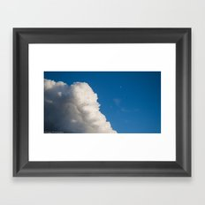 white cloud Framed Art Print