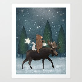 the elder moose Art Print