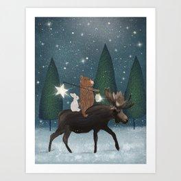 the elder moose Art Print