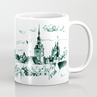 medieval Mugs featuring Medieval landscape. by LaDa