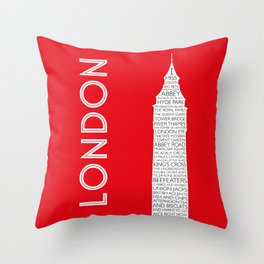 I Miss London Throw Pillow